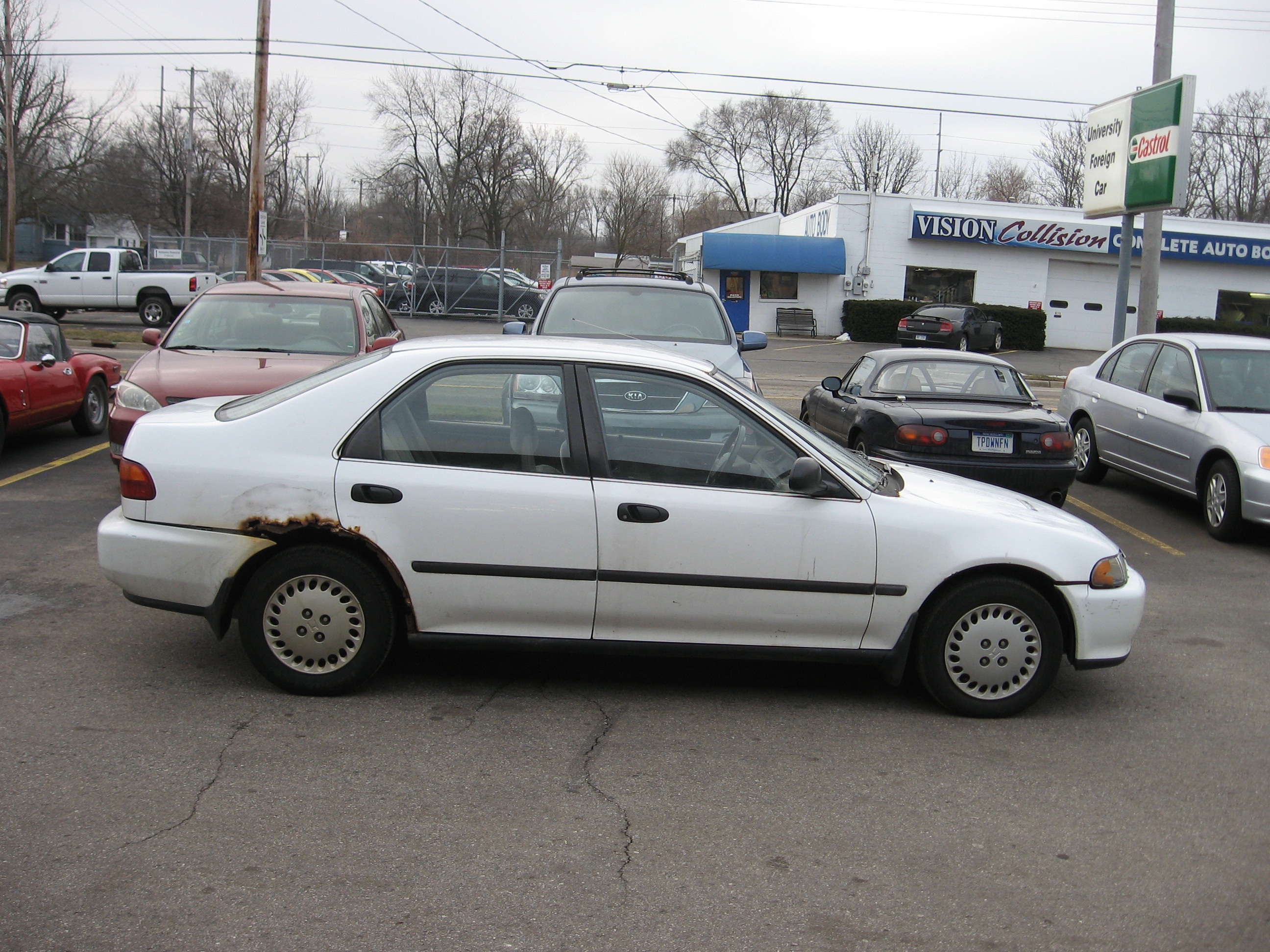 My dead 95 Honda Civic car that I wrote a song about, sing along!