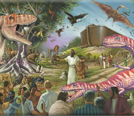 were there dinosaurs in genesis on noah's ark?